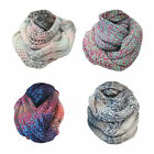 U65 LADIES WINTER WARM SNOOD MULTI COLOUR TIE DIE DESIGN WRAP SOFT NECK SCARF