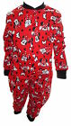 Disney Minnie Mouse Girl's Red All in one Sleepwear Pyjamas Age 1-5 Years