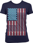 Patriotic Dumbbell Bars Kettlebells USA Flag Weight Lifting Juniors T-shirt