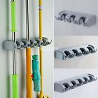 Wall Mounted Storage Holder Broom Hanger Brush Mop Cleaning Tool Organizer Rack