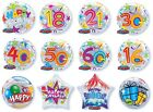 "22"" Bubble HAPPY BIRTHDAY Balloons (All Ages & General)(Party/Clear)(Qualatex)"