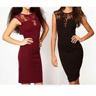 Fashion Sexy Women Short Sleeve Lace Slim Bodycon Party Cocktail Evening Dress