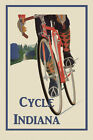 Bicycle Bike Cycles Indiana Sport Vintage Poster Repro FREE SHIP in USA