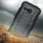 Rugged Armor Hybrid Case Hard Cover Holster For Alcatel One Touch Evolve 2 4037T