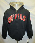 New Jersey Devils Men's S-2XL Full-Zip Designer Sherpa Hoodie NHL Black A12M