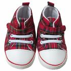 New Baby/Babies Red Tartan Royal Stewart Lace Up Boots/Booties - 0 - 24 Months