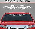 Design #119 Tribal Flame Windshield Decal Rear Window Sticker Vinyl Graphic Car