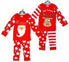 Baby Xmas Santa or Rudolph Christmas Star Pyjamas Set  sizes 6 to 24 Months NEW