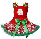 Christmas Red Green Chevron Reversible Petite Pettiskirt Santa HoHoHo PartyDress