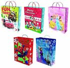DISNEY CHARACTER CHRISTMAS (XMAS) LARGE PLASTIC GIFT BAG with Handle - Range