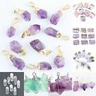 Irregular Drusy Crystal Quartz Fluorite Gemstone  Chakra Pendant Fit Necklace