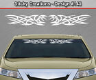 Design #145 Tribal Curls Swirl Windshield Decal Window Sticker Vinyl Graphic Car