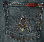 "7 For All Mankind ""A"" Pocket Boot Cut Women's Black Blue Jeans 25 26 27 28 29 32"