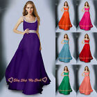 Chiffon Bridesmaid Dress Evening Party Ball Wedding Gown Formal Prom Long 6-26