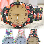 Women's Designer Red Flower Style Artificial Ceramic Quartz Wrist Watches 1PCS