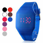 Rubber LED Light Up Digital Sport Wrist Watch Kids Men Women Boy Girl Black Fri