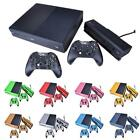 Set 3D Carbon Fibre Decal Sticker Skin Cover for XBOX ONE Console+Controllers