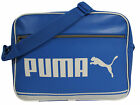 Puma Logo Blue PU Zip Campus Reporter Shoulder Strap Bag 071744 07 D1
