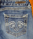 REROCK for Express Slim Fit Low Rise Boot Cut Women's blue Jeans Sz 25 26 27 28
