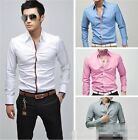 Popular Mens Luxury Casual Formal Slim Fit Long Sleeve  Shirts