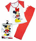 Women's Disney Minnie Mouse Cotton Gift Pack Pyjamas RED Plus Sizes 8 to 22 NEW