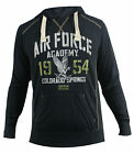 Champion US Air Force Navy Hooded Sweat Jumper Mens (208140 2192) U27