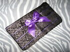 OOAK Black,purple,Red Paisley,Stripes Gothic  Silk Make up bag,purse,Gift,Hippy