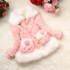 Baby Girls Kids Faux FUR Fish Scale Coat Christmas Clothes Winter Warm Jacket
