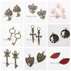 10/50x Newest Antique Bronze/Retro Silver Charms Alloy Pendant Various Styles BS