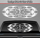 Design #164-03 STAR OF LIFE EMT EMS Back Window Decal Sticker Graphic Paramedic