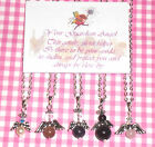 GUARDIAN ANGEL Pendant/Necklace + Verse Card - YOUR CHOICE of GEMSTONE