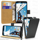 Real Genuine Leather Wallet Flip Case Pouch Cover For Motorola Google Nexus 6