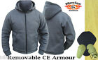 MOTORCYCLE HOODIE FULLY REINFORCED WITH DuPont™ KEVLAR® ARAMID FIBRE GREY LARGE