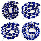 K60286 Natural lapis lazuli pear-shaped double point loose beads,more size offer