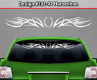Design #101-01 HORSESHOE Tribal Accent Windshield Decal Window Sticker Graphic
