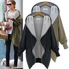 Boyfriend Style Women Oversize Zip UP Jacket Long Coat Hoodie Cardigan Blazer