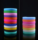 Modish Silicone Rubber Elasticity Wristband Wrist Band Cuff Bracelet Bangle JRAU