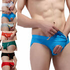 Hot Men's sexy Isolated pocket hollow Mesh Breathable briefs Underwear XL L M