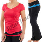 Ladies Fitness Yoga Pants Top T-Shirt Gym Jogging 3/4 Bottoms Pilates Trousers