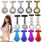 Fashion Style Nurse Brooch Stainless Round Dial Analog Fob Quartz Pocket Watch