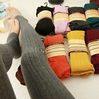 Winter Warm Cotton Knit Thick Stretchy Pantyhose Tights Stirrup