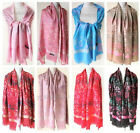 New Fashion 100% Cashmere Womens Scarves Floral Stole Shawl Wrap Scarf