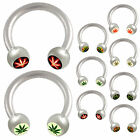 2P Horseshoe ring circular barbell eyebrow bar tragus piercing 9CRB-SELECT STYLE