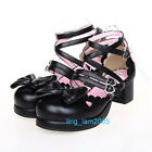 #8072BKERA Punk Gothic Sweet DOLLY Lolita BOOTS Shoes 5.5-11, 34-44 6.5cm heel