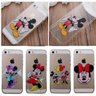 Cute Cartoon Persons Clear Phone PC Cover Case For Apple iPhone 5 5S/ 5C/6