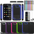 Rugged Hybrid Armor Hard Case Cover+Film For AT&T Huawei Tribute Fusion 3 Y536A1