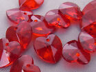 10mm 100/200/300/400/500pcs CLEAR DARK RED HEART ACRYLIC PLASTIC BEADS TY3901