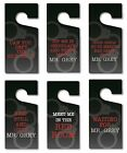 Mr Grey Door Hanger - 50 Shades - Valentines Day - 6 Designs