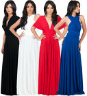 NEW Womens Bridesmaid Convertible Wrap Plus Size Long Maxi Dress XS S M L XL 2X