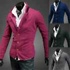 New ! 4 colors Stylish Men's Casual Slim Fit Buttons Suit Blazer Coat Jackets